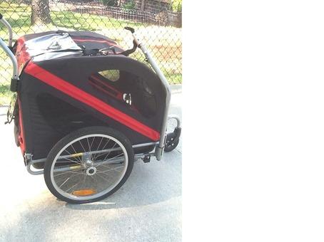 Pet carriage for walking or biking